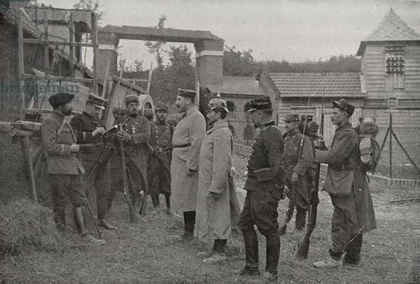 German prisoners of war captured by French forces. World War One 19140101