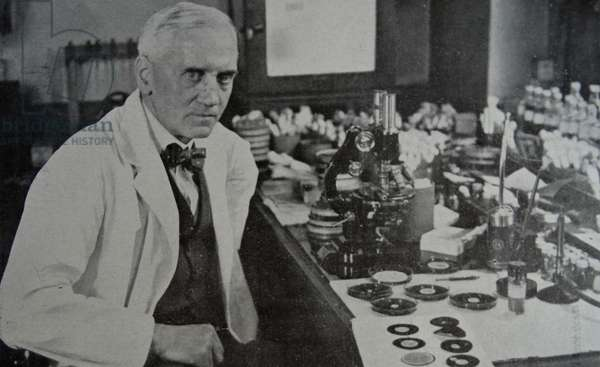 Sir Alexander Fleming who discovered penicillin