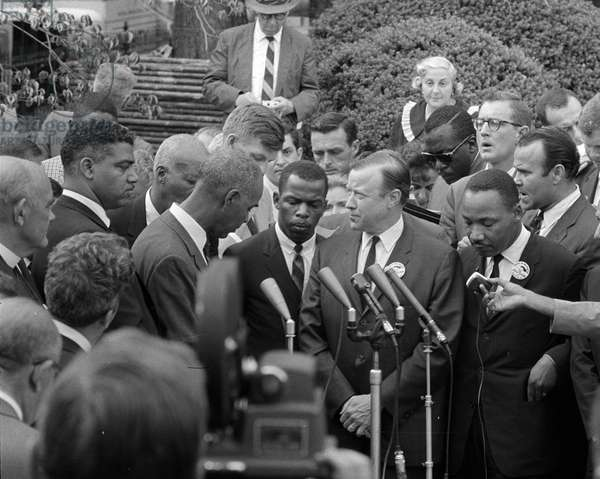 Civil Rights leaders meeting with President John F Kennedy