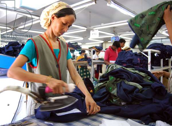 A garments factory in Chittagong Export Processing Zone, CEPZ. Chittagong, Bangladesh. September 7, 2008.  (photo)