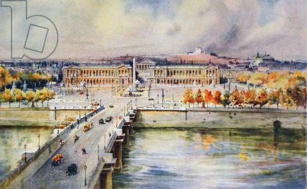 Painting depicting the Place de Concorde