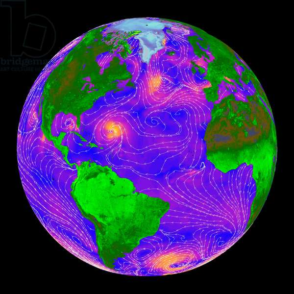 Global radar measurements in clear sky and through clouds. The radar data over the oceans provides scientists and weather forecasters with information on surface wind speed and direction. Credit NASA. Science Meteorology