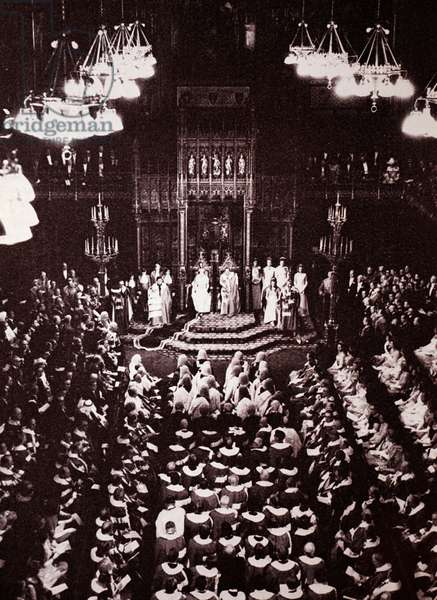 Edward VII and Queen Alexandra of Denmark at the State Opening of Parliament, 1902