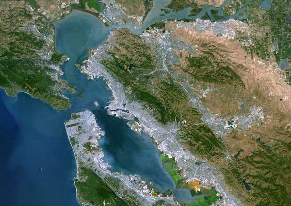 San Francisco Bay, Usa, True Colour Satellite Image