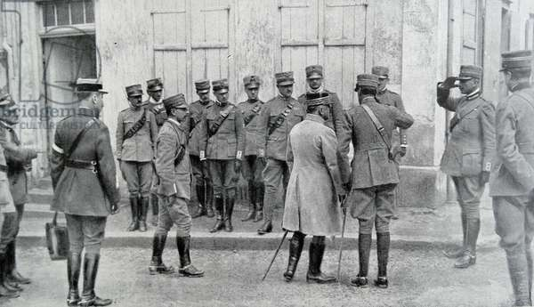 Meeting between Italian and French generals, 1918
