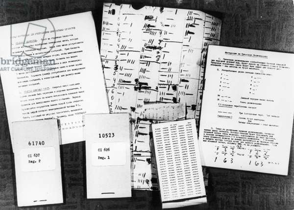 Penkovsky-Wynne Spy Trial, May 1963, Pages of Instructions for Radio Broadcasting and the Use of Code Books, Code Books, and Code Notebooks Found in Penkovsky'S Possession.
