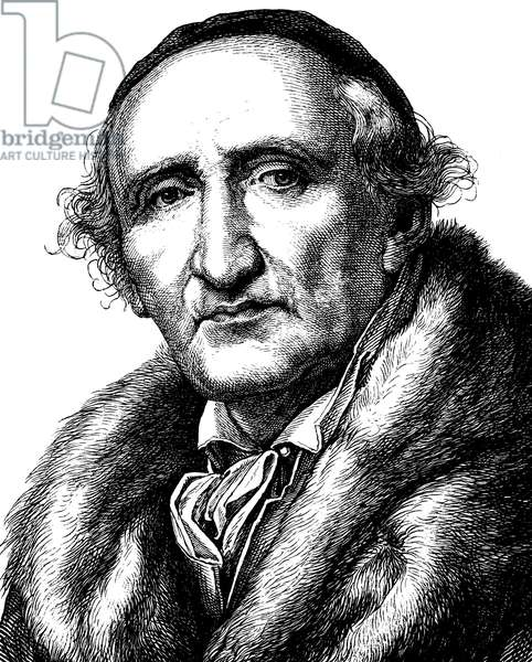 Johann Gottfried Schadow, 1764 - 1850, portrait, historic illustration, 1880 ©UIG/Leemage