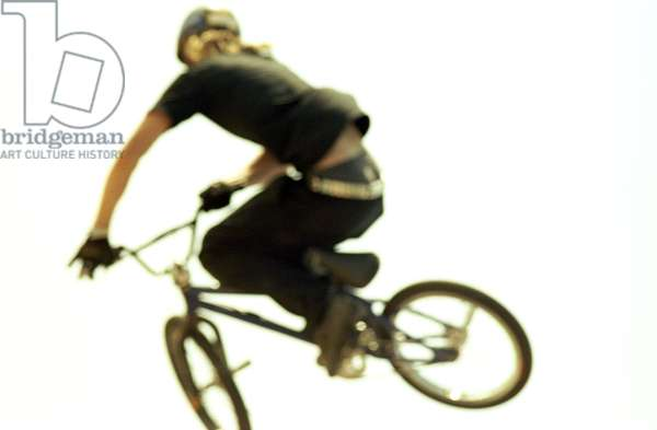 Man in mid air on BMX, Sydney, Australia