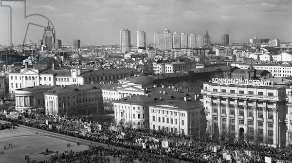 May Day Demonstration In Moscow