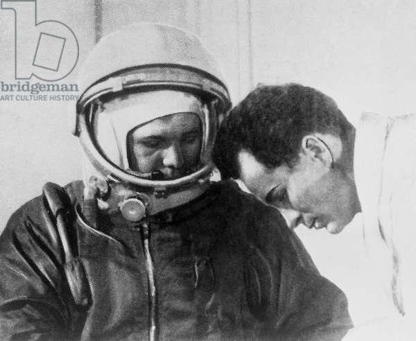 Yuri Gagarin At Baikonur Cosmodrome