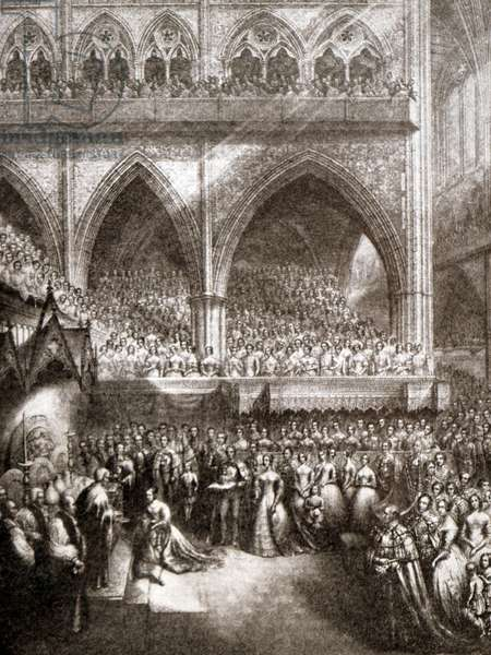 The coronation of Queen Victoria, 1850