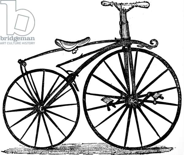 The velocipede Bicycle, with rear brakes