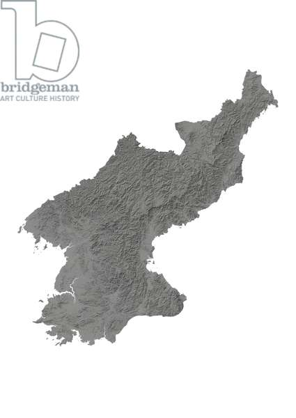 North Korea, Relief Map