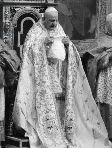 Papa Giovanni XXIII, Rome, Italy (b/w photo)