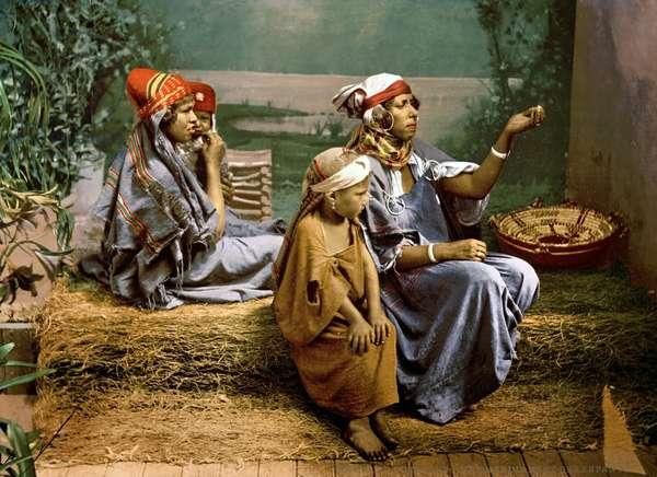Bedouin beggars and children, 1899