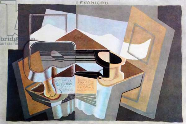 le canigou 1921, by Juan Gris (1887 –1927), Spanish painter