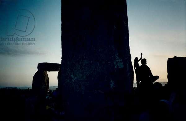 Stonehenge summer solstice 2001.