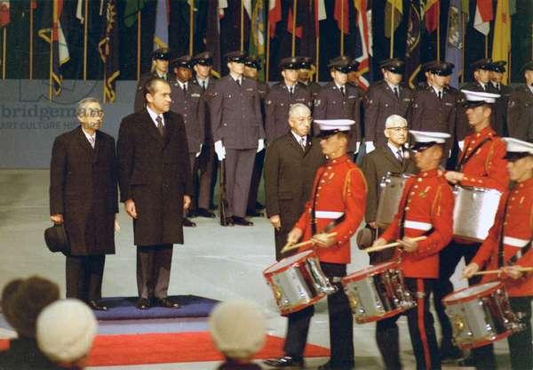 President Richard Nixon and Japanese Emperor Hirohito