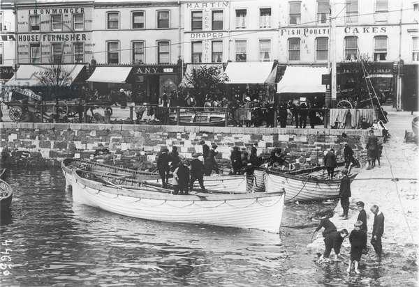 German Navy U-Boats, 1914 (b/w photo)