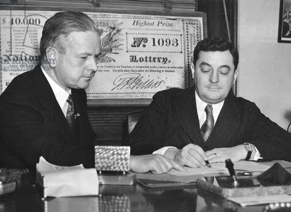 Bonus Army Lottery Bill, United States, c.1936 (b/w photo)