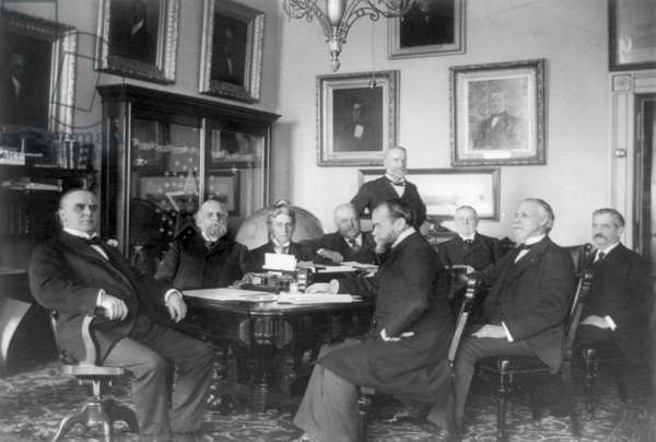 President William McKinley and his cabinet, 1899