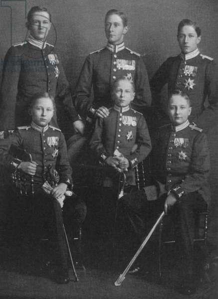 Emperor Wilhelm II's sons