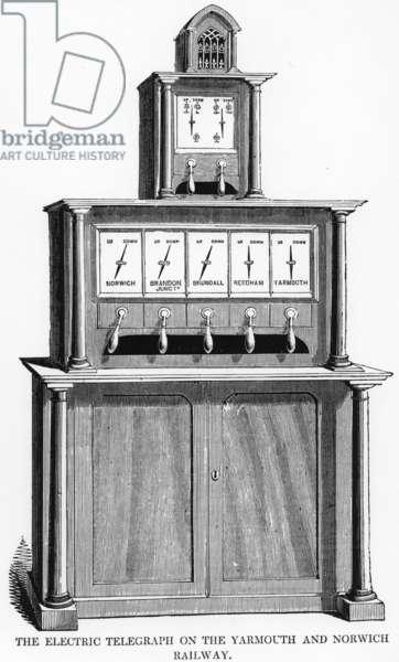 Cooke/Wheatstone needle telegraph, 1845