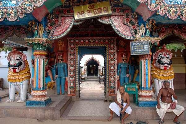 A village temple in Puri. Orissa, India. June 21, 2005.  (photo)