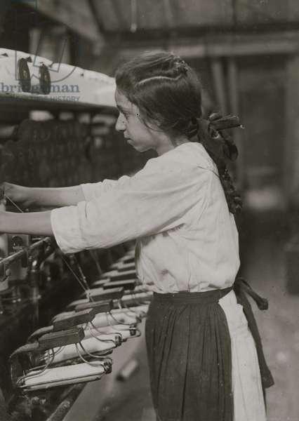 American Linen Co. Spooler tender 1916 (photo)