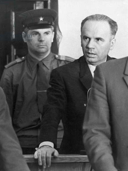 Penkovsky-Wynne Spy Trial, May 1963, Penkovsky in the Courtroom Listening to the Verdict Being Read.