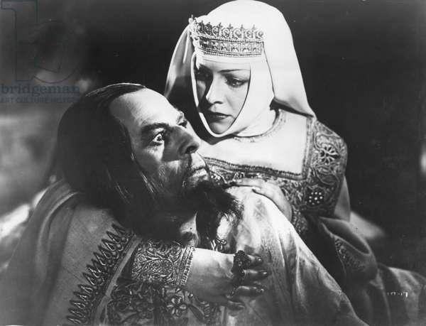 Scene from 'Ivan the Terrible' (1944-45), Film by Sergei Eisenstein, Nikolai Cherkassov (Left) as Tsar Ivan the Terrible, Ludmilla Tselikovskaya as the Tsarina, USSR.