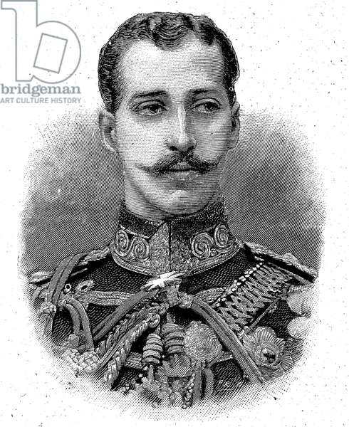 Prince Albert Victor, Duke of Clarence and Avondale, Albert Victor Christian Edward; 8 January 1864 - 14 January 1892, was the eldest child of Albert Edward, Prince of Wales, later King Edward VII, and the grandson of the reigning British monarch, Queen Victoria, Woodcut from 1892 ©Bildagentur-online/UIG/Leemage
