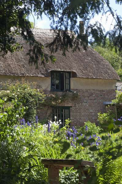 England, Dorset, Thomas Hardy's Cottage seen from garden