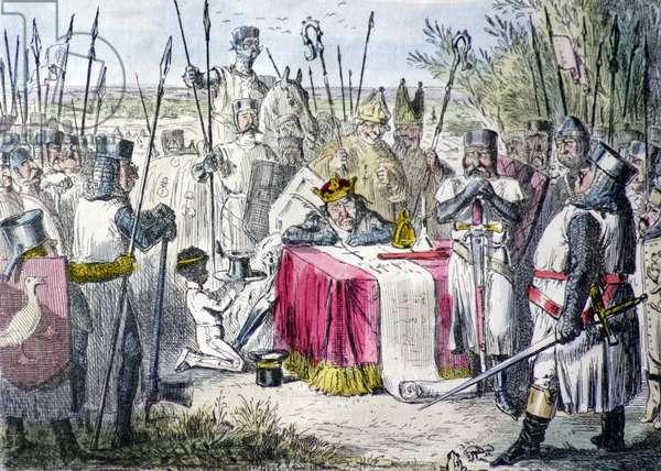 King John signing the Magna Carta 1215 A.D.