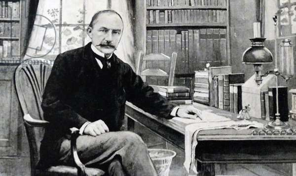 Thomas Hardy in his study at Max Gate, Dorchester