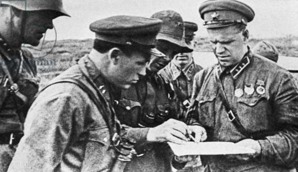Mongolia, Soviet Military Commander Georgy Konstantinovich Zhukov (R) Commands the Soviet-Mongolian Army to Defeat Japanese Forces at Khalkhin Gol in August 1939.