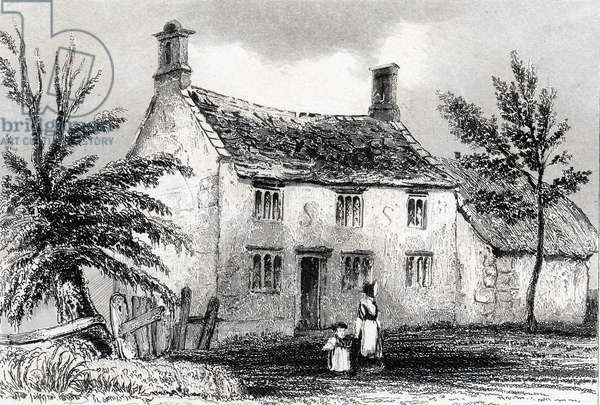Woolsthorpe Manor, near Grantham, Lincolnshire, birthplace of Isaac Newton (1642-1727). Engraving from Dugdale England and Wales Delineated 1840.