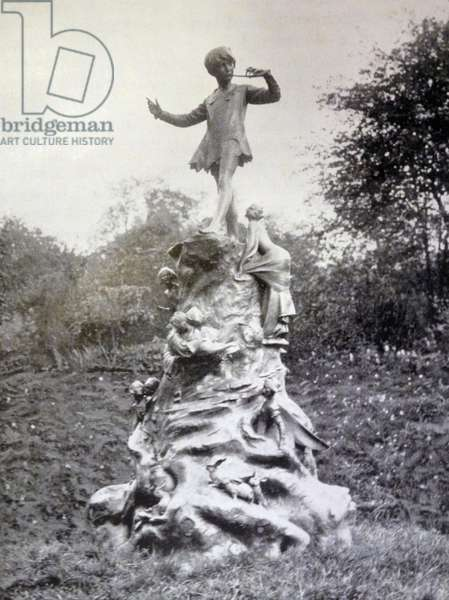 Photographic print of the Peter Pan Statue in Kensington Gardens