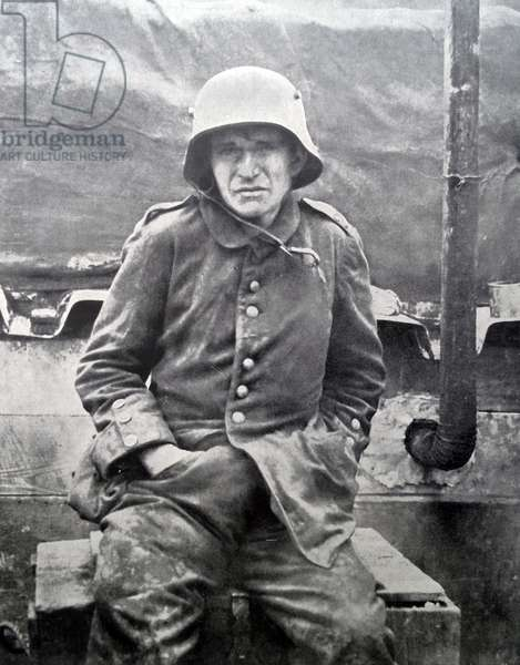 A dejected German prisoner of war, 1918