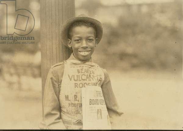 Roland, eleven year old negro newsboy, Newark, N.J 1924 (photo)