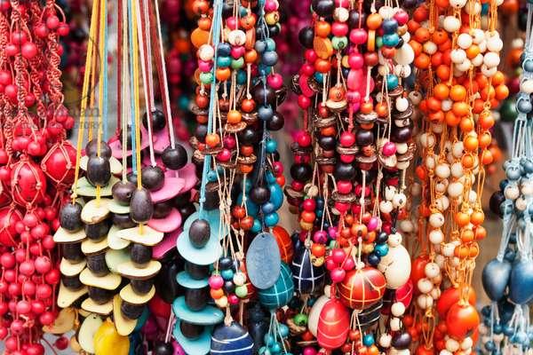 Bead Necklaces For Sale at the Saturday Crafts Market, Otavalo, Imbabura, Ecuador (photo)