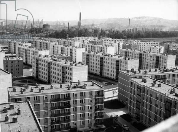 A new residential district of Miskolc, 1964.