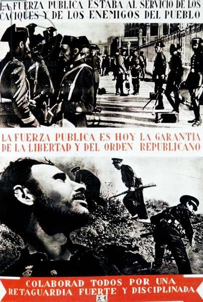 Spanish Civil War Republican propaganda poster