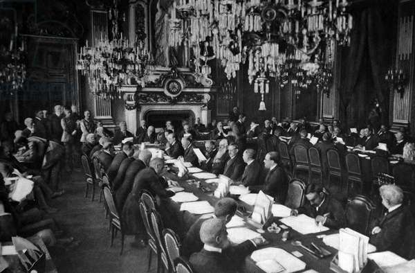 Opening session of the Versailles Peace conference
