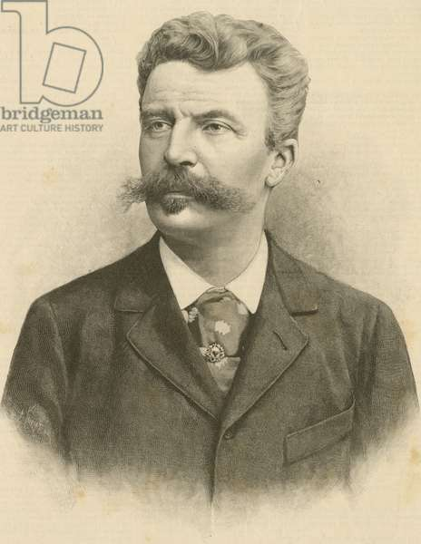 Portrait of Henri Rene Albert Guy de Maupassant