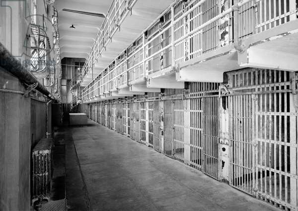 Southwest view on Cell Block 'A' in Alcatraz