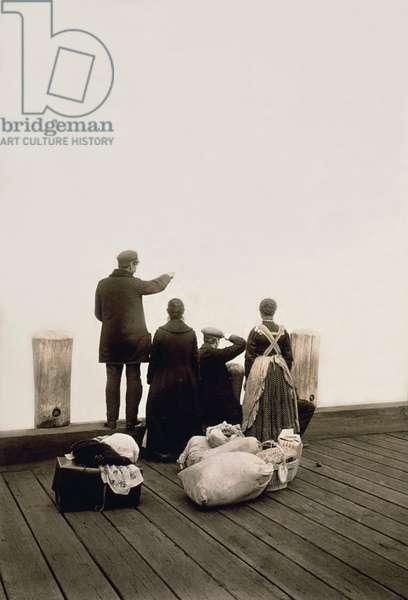 Ellis Island Immigrants, New York, New York, 1912 (b/w photo)