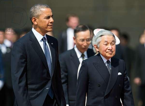Barack Obama and Japanese Emperor Akihit