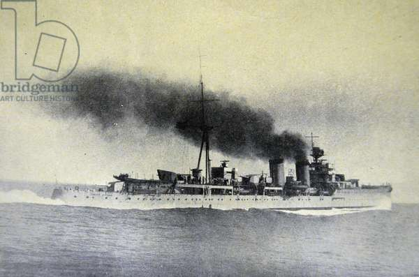 """Spanish civil war: The cruise """" Principe Alfonso """" that took King Alphonso XIII to his exile"""