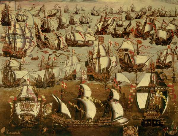 English Ships and the Spanish Armada, August 1588